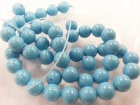 6mm SWAROVSKI® ELEMENTS Turquoise Crystal Pearl Beads - 50 pearls for jewellery making, beadwork and craft